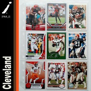 Cleveland Browns 9 Card Lot [FBL8_2]
